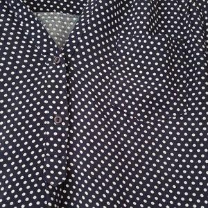 Market & Spruce Tops - Market & Spruce 3/4 sleeve polka dot blouse